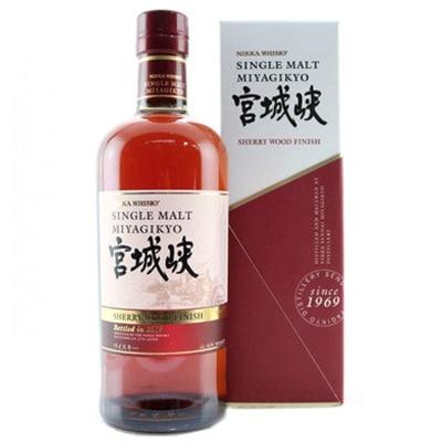 Miyagikyo Sherry Wood Finish Whisky. Whisky Japonés