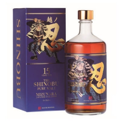 Shinobu 15 Años Mizunara OAK Finish. Whisky Japonés.